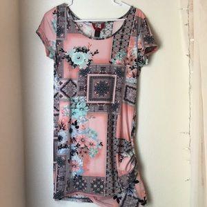 Wrap Style Midi Dress